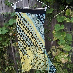 Roberto Cavalli Silk dress Ruched Yellow Skirt
